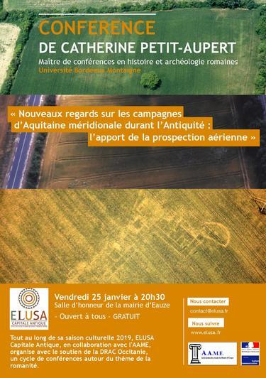 """Cycle de conférences d'ELUSA - """"Nouveaux regards sur les campagnes d'Aquitaine"""""""
