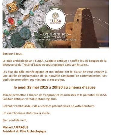 Soirée de lancement de la campagne de communication d'ELUSA