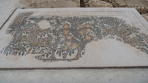 Mosaïque aux arbres - Villa de Séviac