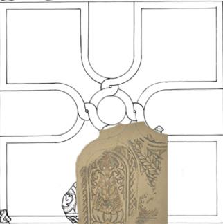 Mosaïque en croix de U - Villa de Séviac
