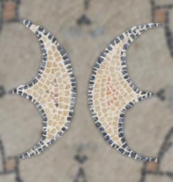 Détail papillon - Mosaïque aux peltes - Villa de Séviac