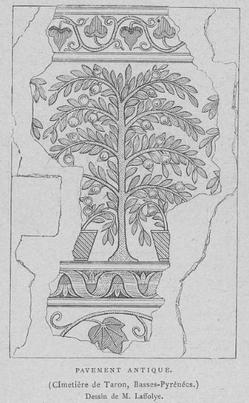 Mosaïque de la villa de Taron